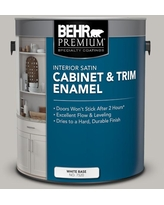 Amazing Deal On Behr Premium 1 Gal Ppu18 15 Fashion Gray Satin Enamel Interior Cabinet And Trim Paint