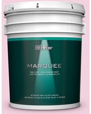 BEHR MARQUEE 5 gal. #100A-3 Scented Valentine Semi-Gloss Enamel Interior Paint and Primer in One