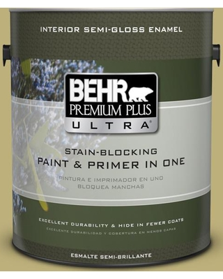 BEHR ULTRA 1 gal. #MQ6-60 Everglade Semi-Gloss Enamel Interior Paint and Primer in One