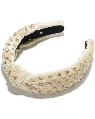 Women's Lele Sadoughi Crystal Knotted Headband in Ivory