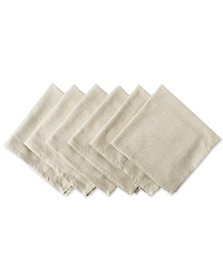 DII Variegated Tabletop Collection, Napkin Set, Taupe 6 Count