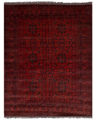 Hand-knotted Finest Khal Mohammadi Red Wool Rug - 4'11 x 6'6 (Red - 4'11 x 6'6)