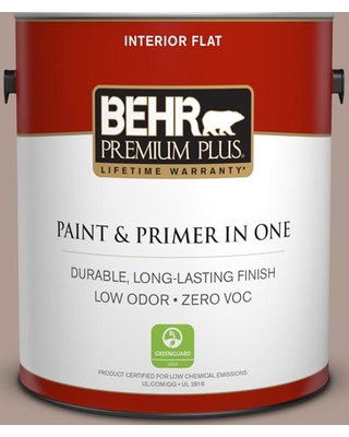 BEHR Premium Plus 1 gal. #N170-4 Coffee with Cream Flat Low Odor Interior Paint and Primer in One