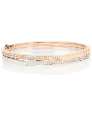 Exclusive to Mytheresa – Antifer 18kt rose gold and white gold bracelet with diamonds