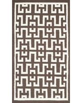 Newport Dhurrie Accent Rug - Chocolate (Brown) / Ivory (3' X 5') - Safavieh