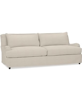 """Carlisle Slipcovered Grand Sofa 90.5"""" with Bench Cushion, Polyester Wrapped Cushions, Performance Everydaylinen(TM) by Crypton(R) Home Oatmeal"""