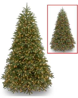 National Tree Company 6.5 ft. Jersey Fraser Fir Medium Artificial Christmas Tree with Dual Color LED Lights