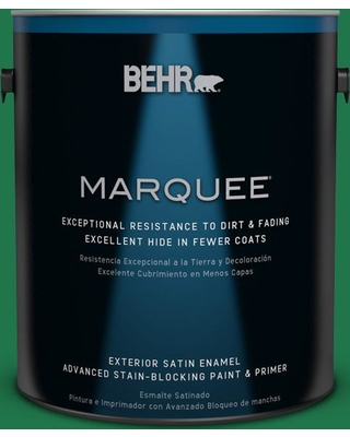 BEHR MARQUEE 1 gal. #460B-7 Pine Grove Satin Enamel Exterior Paint and Primer in One