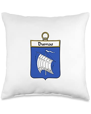 Family Crest and Coat of Arms clothes and gifts Dumas Coat of Arms - Family Crest Throw Pillow, 16x16, Multicolor