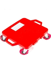 Cosom Scooter Board, 16 Inch Premium Sit & Scoot Board With 4 Inch Non-Marring Performance Wheels, Double Race Bearings, Safety Handles, Physical Education Class Equipment, Red
