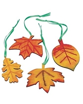 S&S Worldwide Wood Leaves Craft Kit; 48/Pack,Size: small