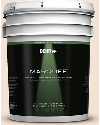 BEHR MARQUEE 5 gal. #270E-1 Orange Confection Semi-Gloss Enamel Exterior Paint and Primer in One