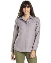 United By Blue Women's Pinedale Wool Button Down LS Shirt - Large - Grey