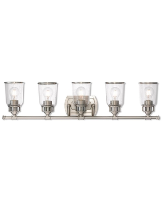 Livex Lighting Lawrenceville 5 Light Brushed Nickel Bath Vanity