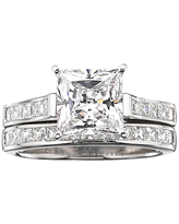 DiamonArt Cubic Zirconia 3 3/4 CT. T.W. Bridal Ring Set, 9 , No Color Family
