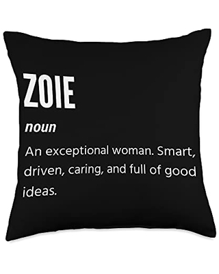 Zoie Gifts, Noun, An Exceptional Woman Throw Pillow, 18x18, Multicolor