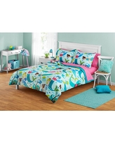 Your Zone Blue & Pink Mermaid Bed in a Bag Kids Bedding Set
