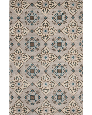 Beige/Multi Botanical Loomed Area Rug - (4'X6') - Safavieh, Size: 4'x6', Beige Multicolored