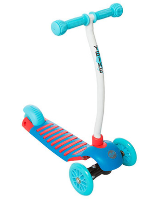 YBIKE GLX Cruze Scooter - Blue - Active Play for Ages 2 to 3 - Fat Brain Toys