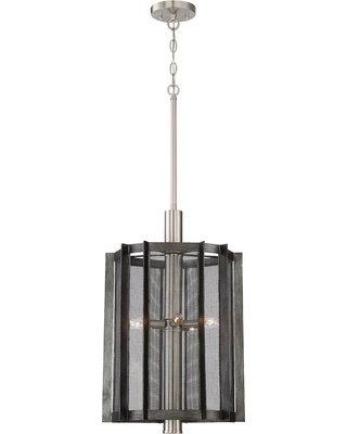 Designers Fountain Baxter 5-Light Weathered Iron Hall and Foyer Pendant