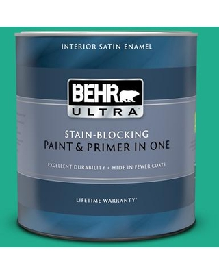 BEHR ULTRA 1 qt. #P430-5 Enchanted Wells Extra Durable Satin Enamel Interior Paint & Primer