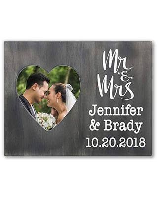Personalized Wedding Photo Frame Gift, Mr and Mrs, Mr and Mr or Mrs and Mrs, Gay Wedding Present