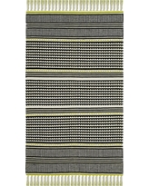 3'X5' Woven Accent Rug Lime Stripe - Safavieh, Green/Multi