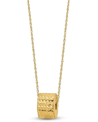 Jared The Galleria Of Jewelry Rope Chain Barrel Necklace 14K Yellow Gold