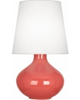 Robert Abbey June Melon Ceramic with Oyster Shade Table Lamp