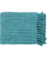 Artistic Weavers Phoebe Teal (Blue) Cotton Throw