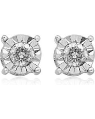9b91db4f0a431 Effy Effy Gray 0.50 c.t. t.w. Diamond Stud Earrings in Sterling Silver from  Belk | Real Simple