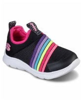 Skechers Toddler Girls Comfy Flex 2.0 - Rainbow Frenzy Slip-on Casual Sneakers from Finish Line - Black Multi