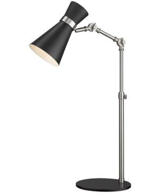 Soriano Collection 728TL-MB-BN 1 Light Table Lamp in Matte Black and Brushed