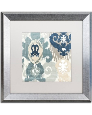 """Trademark Fine Art """"Beach Curry III"""" Canvas Art by Color Bakery, White Matte, Silver Frame"""