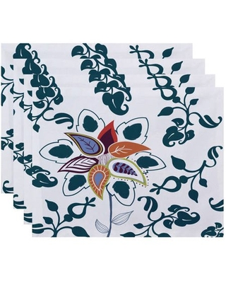 "Simply Daisy 18"" x 14"" Paisley Pop Floral Print Placemats, Set of 4"