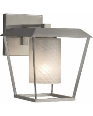 Justice Design Group Fusion 12 Inch Wall Sconce - FSN-7554W-10-WEVE-NCKL