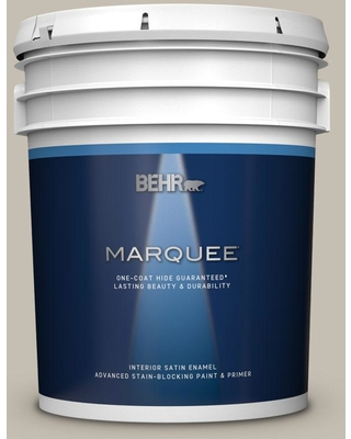 BEHR MARQUEE 5 gal. #PPU8-17 Fortress Stone Satin Enamel Interior Paint and Primer in One