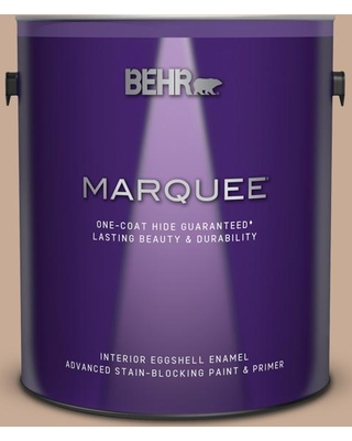 BEHR MARQUEE 1 gal. #S220-3 Sanderling Eggshell Enamel Interior Paint and Primer in One