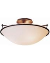 "Hubbardton Forge 17"" Wide Dark Smoke Ceiling Light"