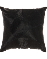 Black Mosaic Throw Pillow - Mina Victory