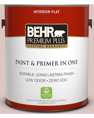 BEHR Premium Plus 1 gal. #N160-2 Malted Flat Low Odor Interior Paint and Primer in One