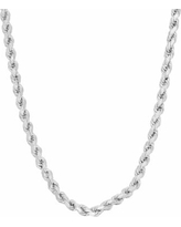 """Sterling Silver Rope Chain Necklace, Women's, Size: 18"""", Grey"""