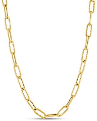 Jared The Galleria Of Jewelry Italia D'Oro Elongated Chain Necklace 14K Yellow Gold