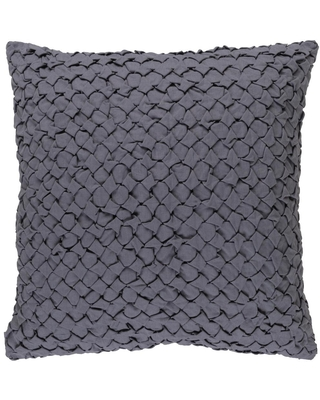 Artistic Weavers Fenwick Grey Solid Polyester 18 in. x 18 in. Throw Pillow