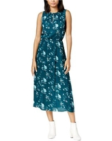 maison Jules Womens Printed Fit Flare Maxi Fit & Flare Dress, Green, XX-Small