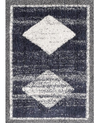 nuLOOM Laurie Moroccan Tribal Shag Blue 3 ft. x 8 ft. Runner