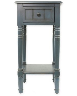 Decor Therapy Simplify 1-Drawer Square Accent Table in Navy