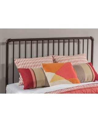Hillsdale Furniture Brandi Metal Queen Headboard with Bed Frame, Oiled Bronze Finish