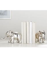 Antique Silver Elephant Bookends