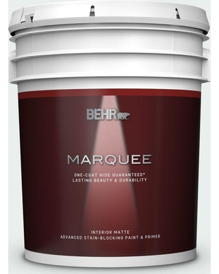 BEHR MARQUEE 5 gal. #PPL-36 Cool Reflection Matte Interior Paint and Primer in One